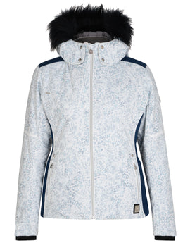 Dare2B Womens Providence Jacket - White Animal Print