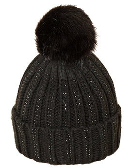 Pia Rossini Calista Beanie Hat - Black