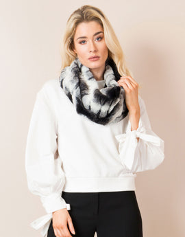 Pia Rossini Bacardi Snood - Black Ivory