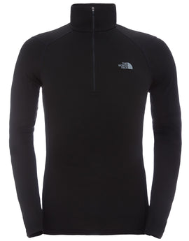 The North Face Mens Warm LS Zip Neck Top - TNF Black