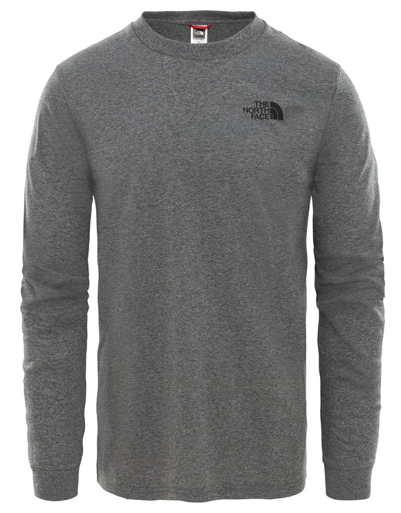 The North Face Mens Long Sleeve Simple Dome T Shirt - TNF Medium Grey