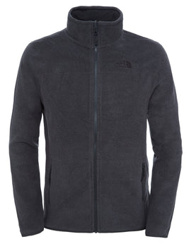 The North Face Mens 100 Glacier Full Zip Fleece - TNF Grey Heather