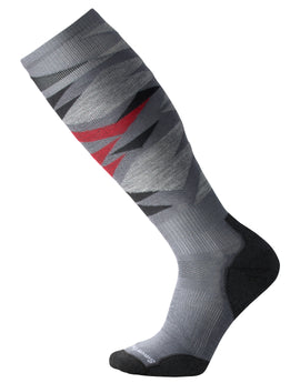 SmartWool Mens PhD Ski Light Pattern Sock - Graphite