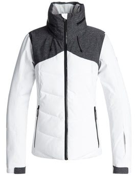 Roxy Womens Flicker Ski Jacket - Bright White