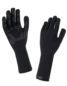 SealSkinz Ultra Grip Waterproof Gauntlet Glove - Black