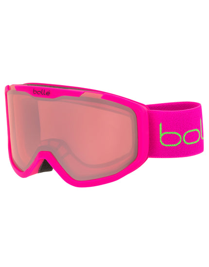 Bolle Kids Rocket Ski Goggle - Matte Pink Bear with Vermillon Lens