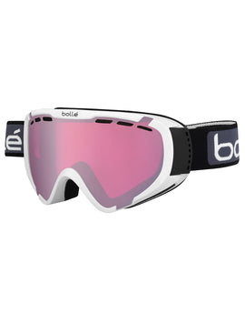 Bolle Kids Explorer OTG Ski Goggle - Shiny White with Vermillon Gun Lens