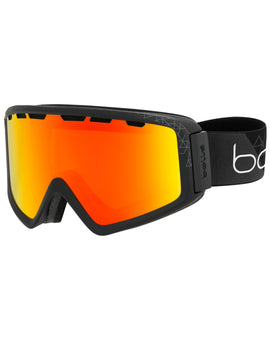 Bolle Z5 OTG Ski Goggle - Shiny Black with Photochromic Fire Red Lens