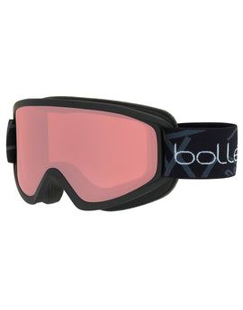 Bolle Freeze Ski Goggle - Matte Black with Vermillon Lens