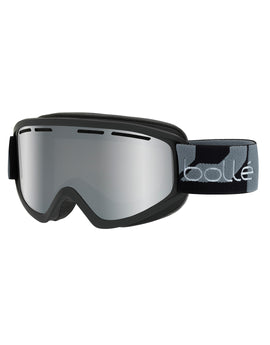 Bolle Schuss Ski Goggle - Matte Black with Black Chrome Lens