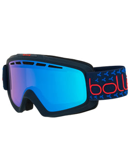 Bolle Nova II Ski Goggle - Matte Navy/Red with Photochromic Vermillon Blue Lens