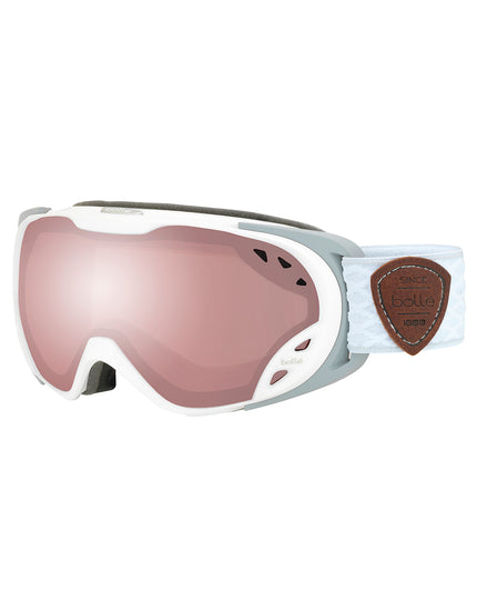 Bolle Womens Duchess Ski Goggle - Matte White/Grey with Vermillon Gun Lens