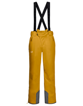 Jack Wolfskin Mens Exolight Ski Pant - Golden Yellow