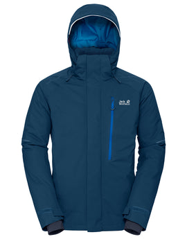 Jack Wolfskin Mens Exolight Icy Ski Jacket - Poseidon Blue