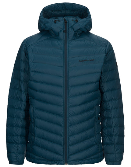 Peak Performance Mens Frost Down Hood Ski Jacket - Teal Extreme