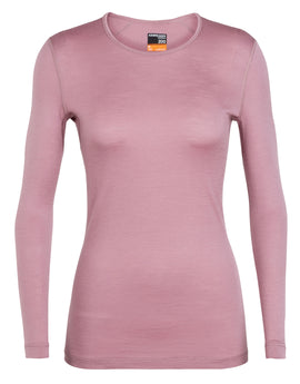 Icebreaker Womens 200 Oasis Long Sleeved Crewe Top - Opal