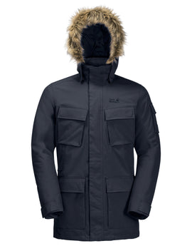 Jack Wolfskin Mens Glacier Canyon Parka Jacket - Night Blue