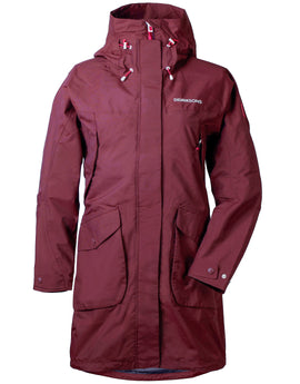 Didriksons Womens Thelma Parka - Wine Red