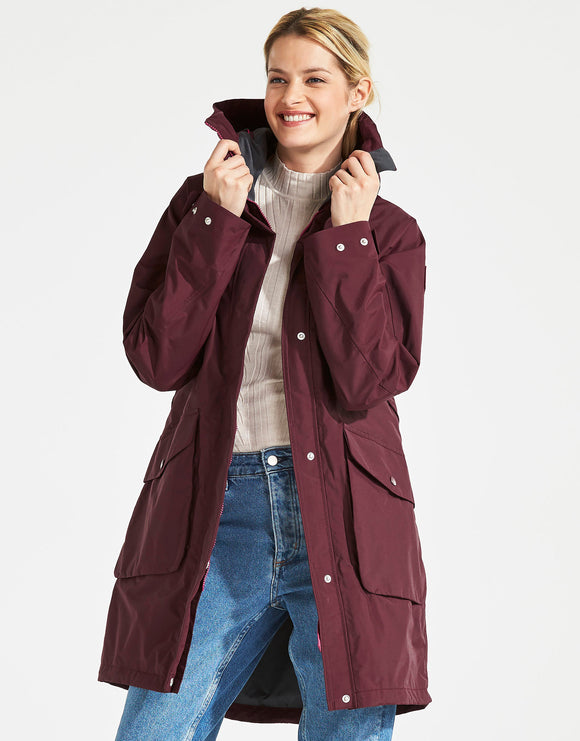 Didriksons Womens Thelma Parka 2 - Wine Red
