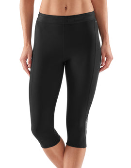 Simply Hike UK Womens DNAmic Thermal Three Quarter Tights - Black