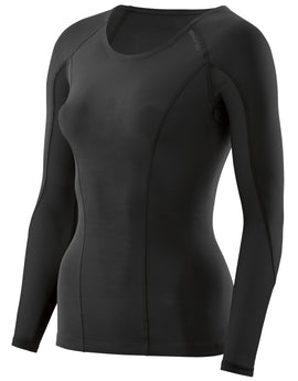Simply Hike UK Womens DNAmic Long Sleeve Top - Black Black