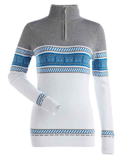 Nils Womens Terri Sweater - White Steel