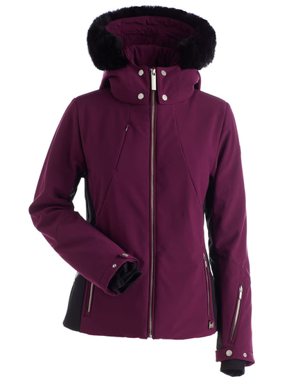 Nils Womens Pia Faux Fur Ski Jacket - Plum