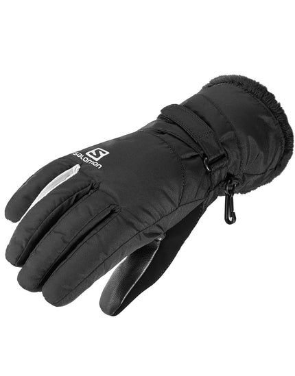 Salomon Womens Force Dry Glove - Black and White