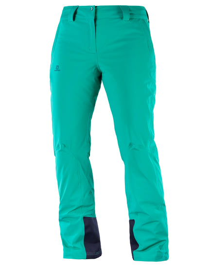 Salomon Womens Icemania Ski Pant - Waterfall