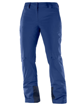 Salomon Womens Icemania Ski Pant - Medieval Blue