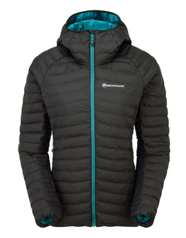 Montane Womens Phoenix Thermoplume Jacket - Black Zanskar Blue