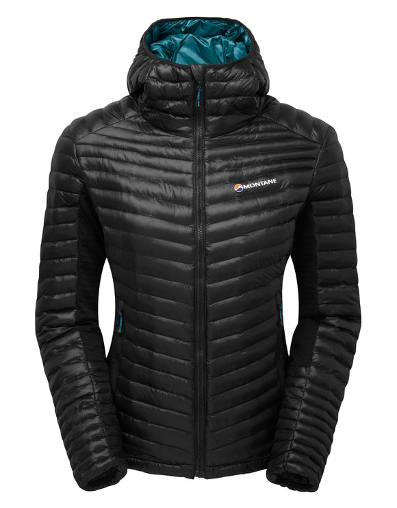 Montane Womens Phoenix Flight Jacket - Black Zanskar Blue