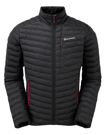 Montane Mens Icarus Micro Jacket - Black Alpine Red