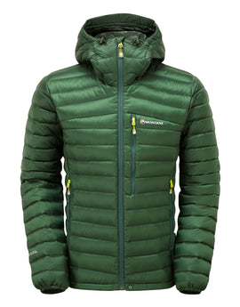 Montane Mens Featherlite Down Jacket - Arbor Green Kiwi