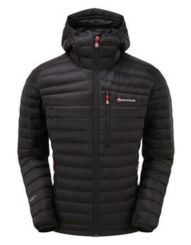 Montane Mens Featherlite Down Jacket - Black Alpine Red