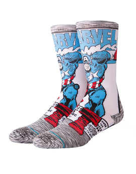 Stance Mens Captain America Comic Socks