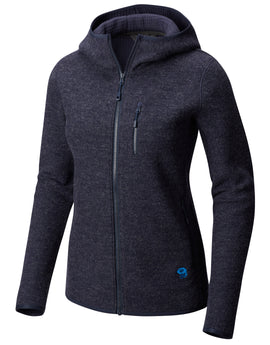 Mountain Hardwear Womens Hatcher Full Zip Hoody - Dark Zinc