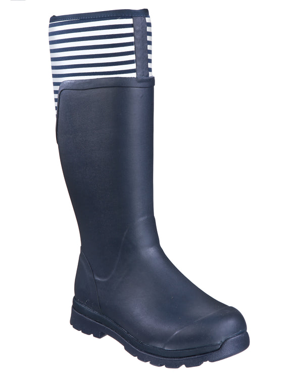 Muck Boot Company Womens Cambridge Tall Wellies - Navy Stripe
