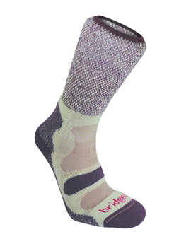 Bridgedale Womens Hike Lightweight Cotton Cool Sock - Plum