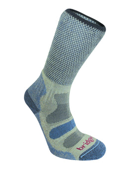 Bridgedale Womens Hike Lightweight Cotton Cool Sock - Smoky Blue