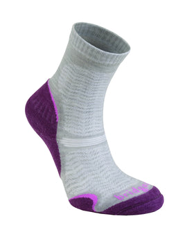 Bridgedale Womens Hike Ultra Light Merino Endurance Sock - Aubergine