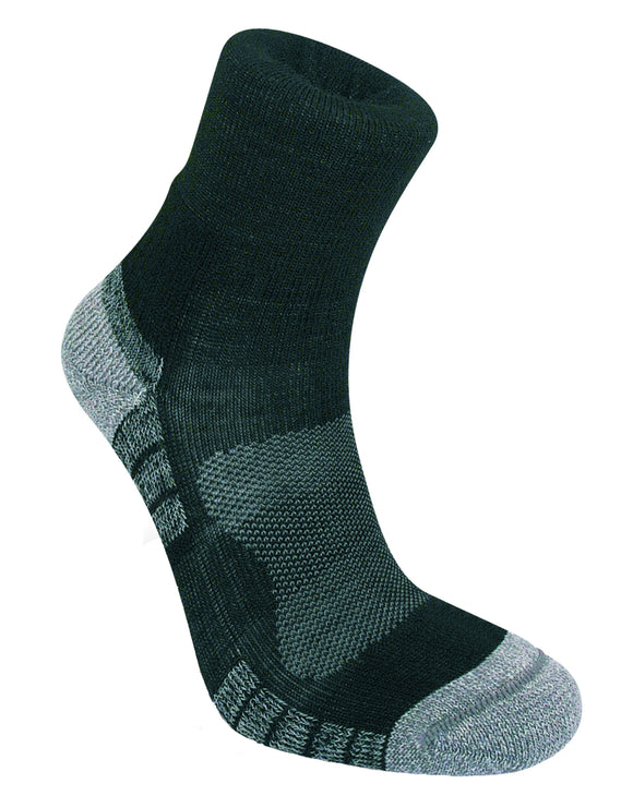 Bridgedale Mens Hike Lightweight Merino Endurance Ankle Sock - Grey Lime