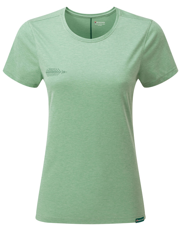 Montane Womens Neon Featherlite Clothing T Shirt - Matcha Green
