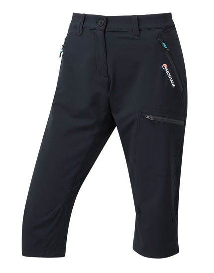 Montane Womens Dyno Stretch Capri Trousers - Black