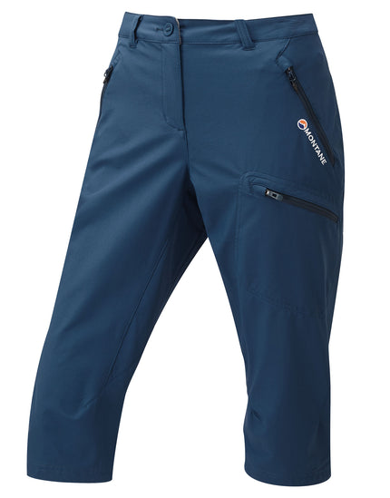 Montane Womens Dyno Stretch Capri Trousers - Narwhal Blue