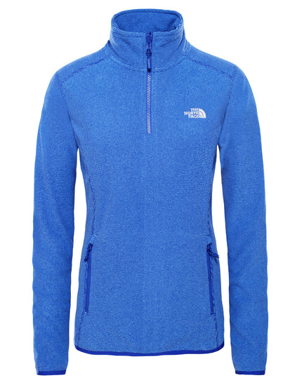 The North Face Womens 100 Glacier Quarter Zip Fleece - Lapis Blue Stripe