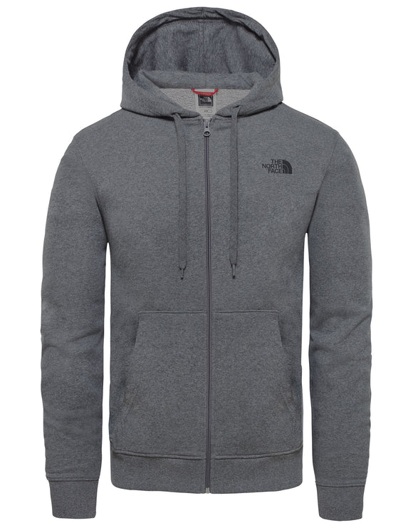 The North Face Mens Open Gate Full Zip Lightweight Hoodie - TNF Medium Grey