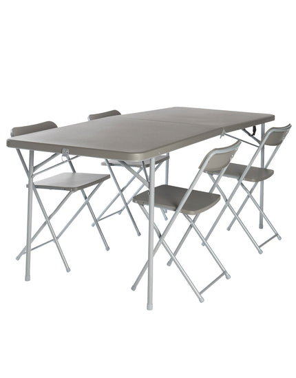 Vango Orchard XL 182 Table and Chair Set - Grey