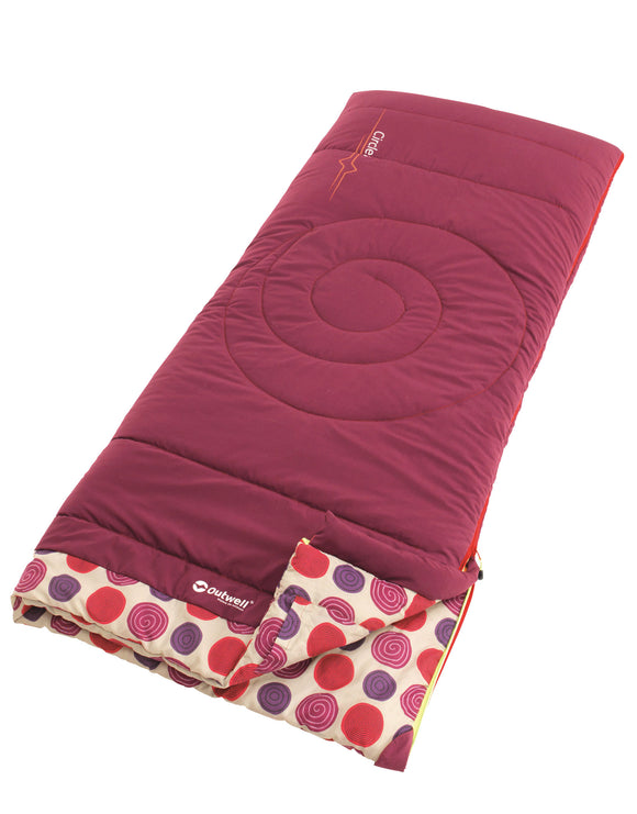 Outwell Kids Circles Sleeping Bag - Berry