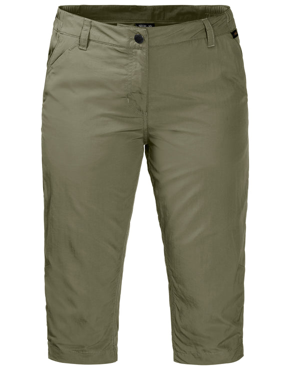 Jack Wolfskin Womens Kalahari Three Quarter Trousers - Khaki